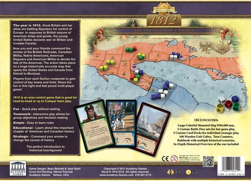 1812: The Invasion of Canada   Board Game Atlas