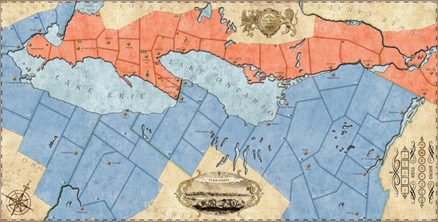 1812: The Invasion of Canada - Map
