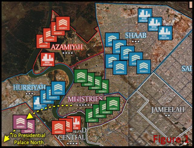 Battle for Baghdad - Positions at start of 2nd turn