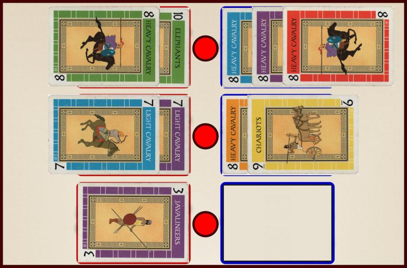 Battle Line Card Game Example Flag Capture 1a