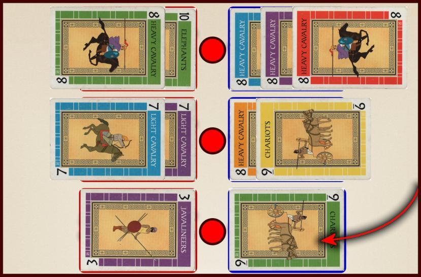 Battle Line Card Game Flag Capture Example 1b