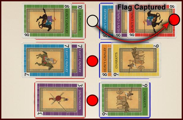 Battle Line Card Game Example Flag Capture 1c