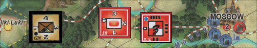 Blocks in the East Board Game Review - German & Soviet units outside Moscow