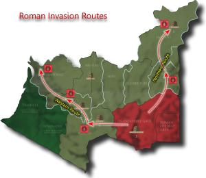 Caesar's Gallic War - Roman Invasion Routes