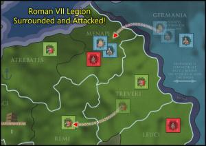 Caesar's Gallic War - Trapped Roman Legions