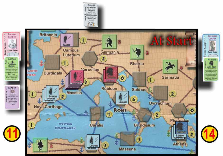 Caesar XL - Starting Positions