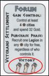 Caesar XL - Victory symbols on Forum card