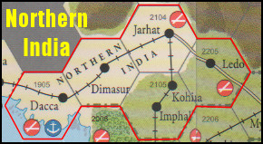 Empire of the Sun Board Game - Northern India