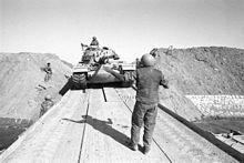 Bar Lev 8 - Israeli tank crossing the Suez canal