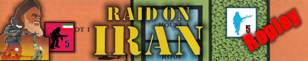 Raid on Iran Board Game Replay Title Graphic