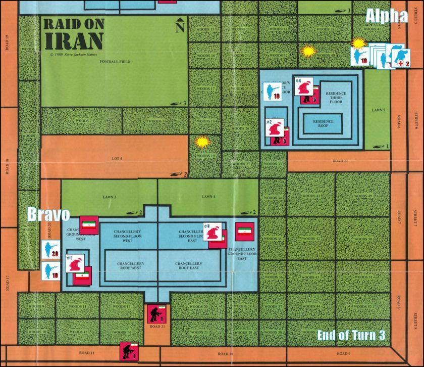 Raid on Iran Board Game Replay - Game Turns 1 to 3