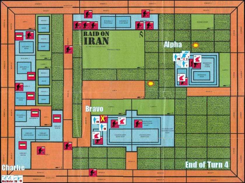 Raid on Iran Board Game Replay - Game Turn 4