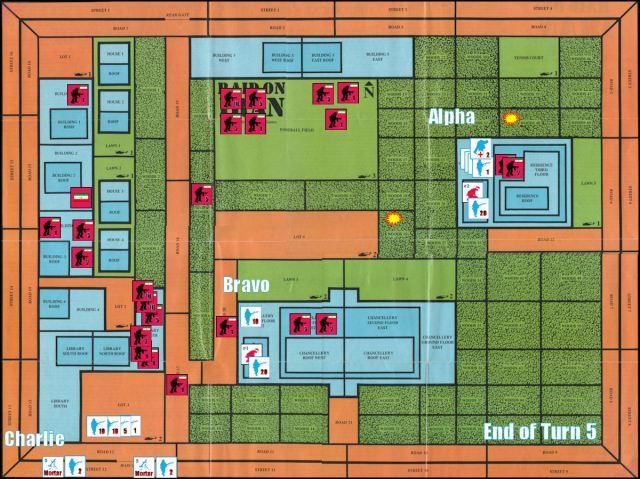 Raid on Iran Board Game Replay - End of Game Turn 5