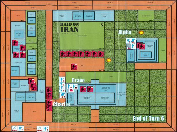 Raid on Iran Board Game Replay - End of Game Turn 6