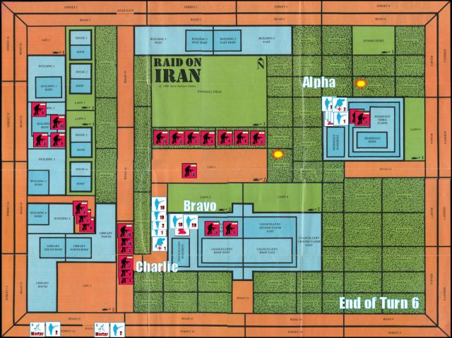 Raid on Iran Board Game Replay - End of Game Turn 6