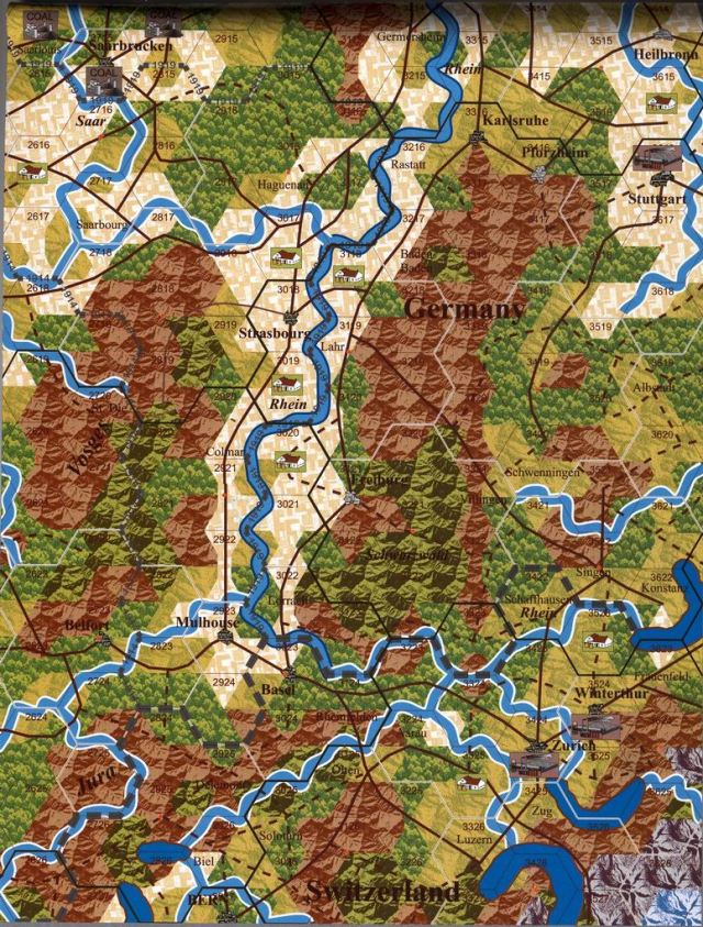 Western front map
