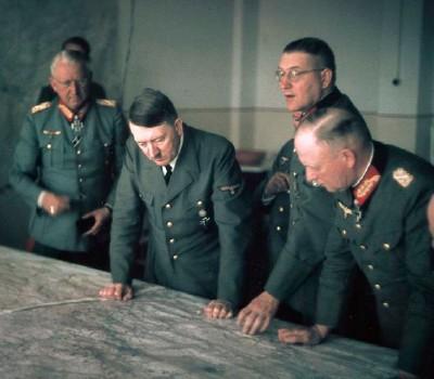 Adolf Hitler, Politiker, NSDAP, D - Lagebesprechung im Hauptquartier des Heeresgruppe S¸