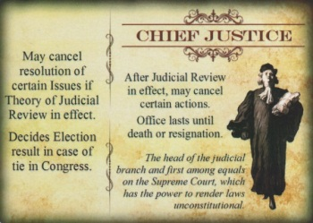 "Chief Justice ""Office"" card"