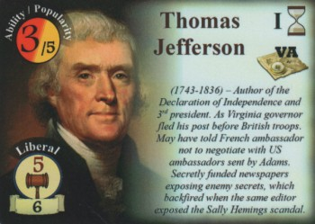 Thomas Jefferson - Statesman Card