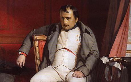 Painting : Napoleon at Fontainbleau