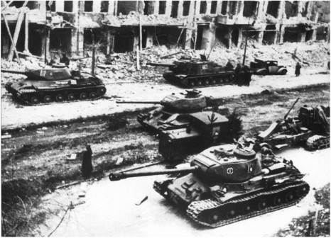 Soviet Armor in Berlin 1945