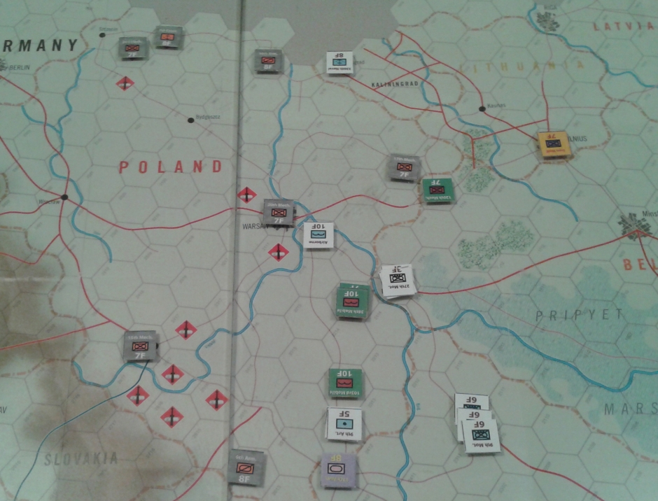 End of russian half of turn